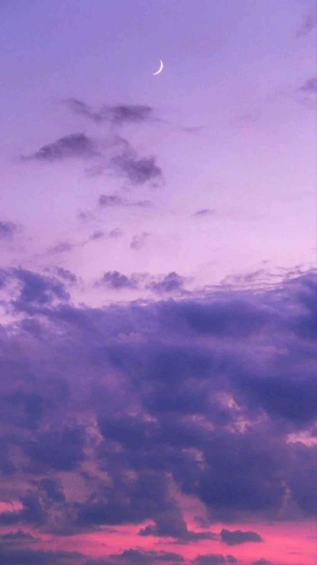 Sky Cloud Daytime Purple Atmosphere Violet Sky Aesthetic