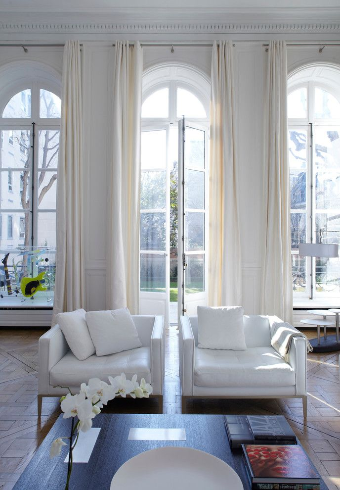 Splendid french door curtains decorating ideas for living for Arch window decoration