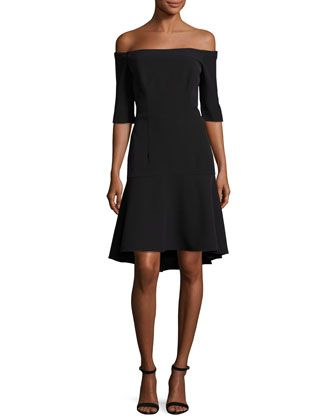Nina+Off-the-Shoulder+Fishtail+Dress e895911ed6fdf