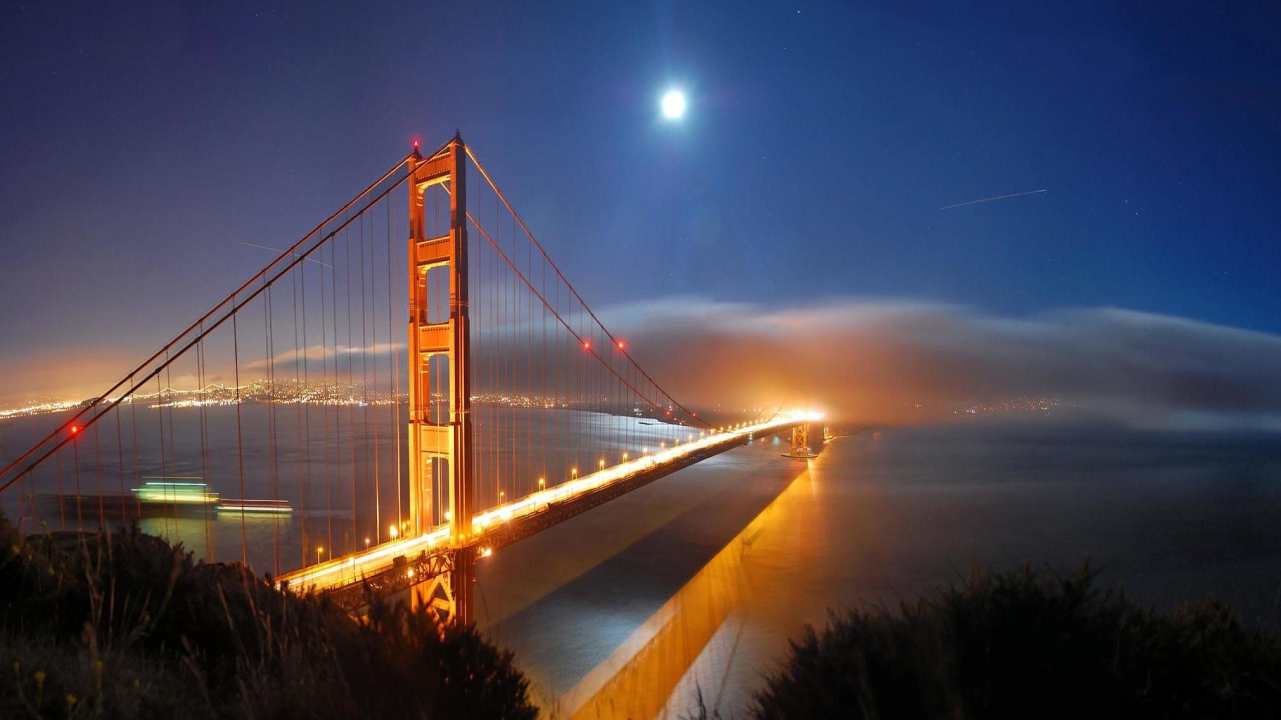 San Francisco Bridge Evening Dusk Sunset wallpapers
