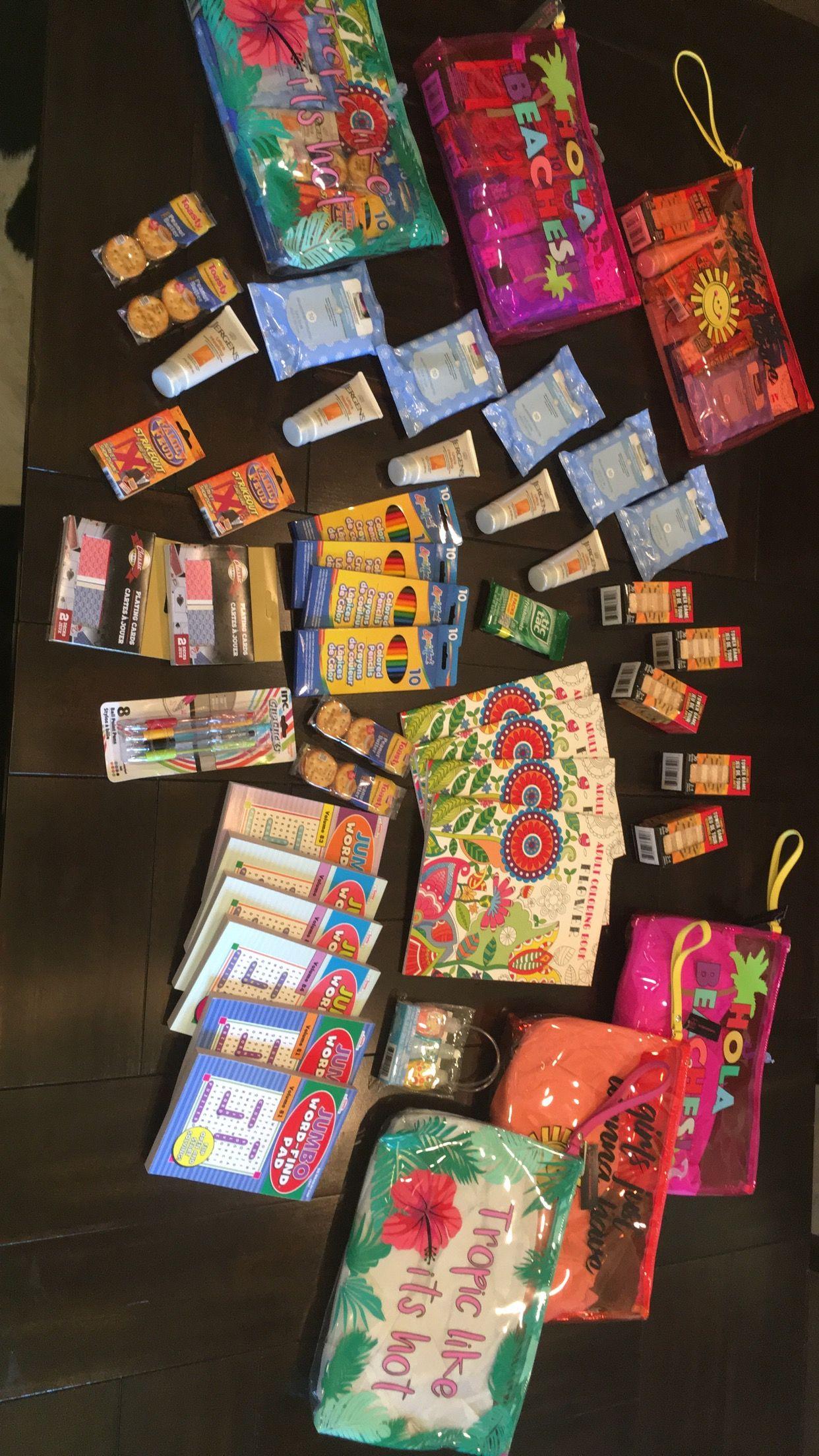 Summer goodie bags. Dollar tree & WalMart Gift ideas