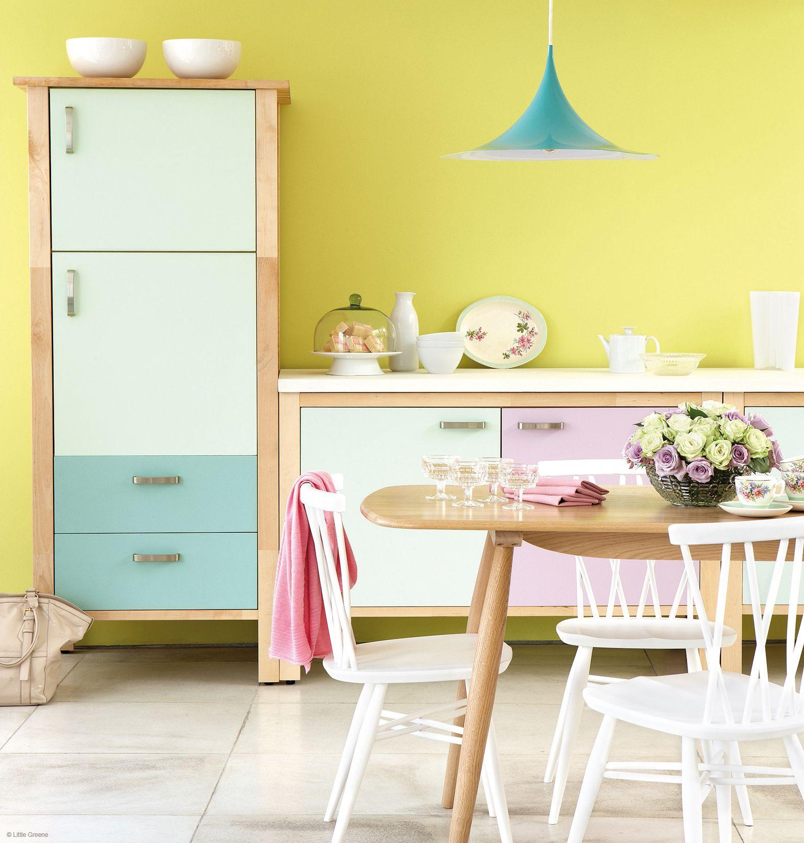 Une #cuisine couleur #bonbon, ça vous dit ? #pastel #tendance