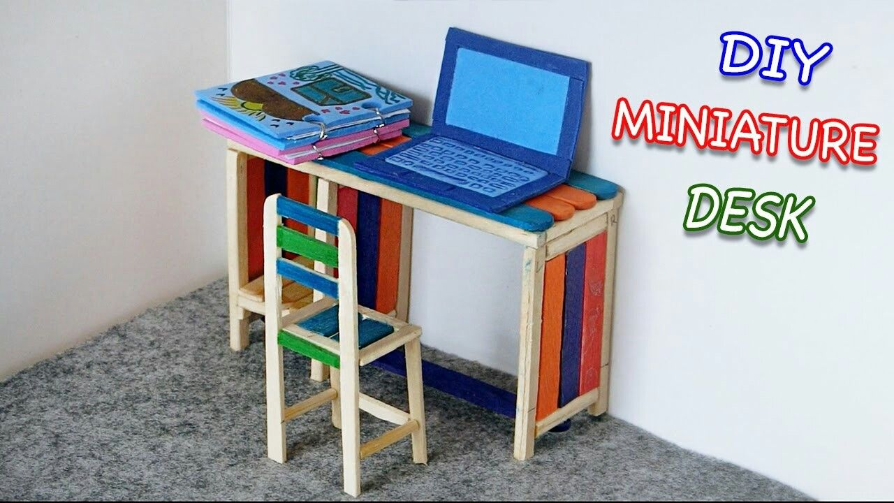 how to build miniature furniture. Popsicle Stick Craft| Diy Miniature Furniture How To Build U