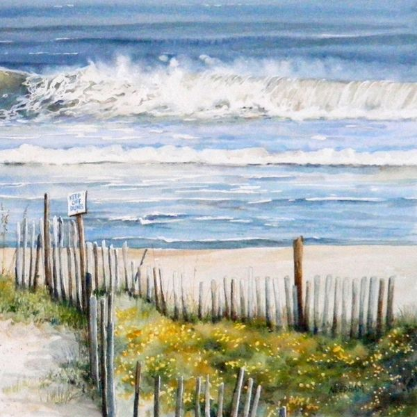 NAG'S HEAD SURF, seascape watercolor by Thomas A Needham