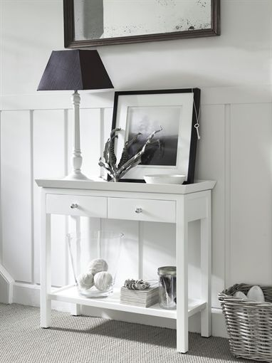 Charmant Neptune Aldwych Small Console Table In Snow