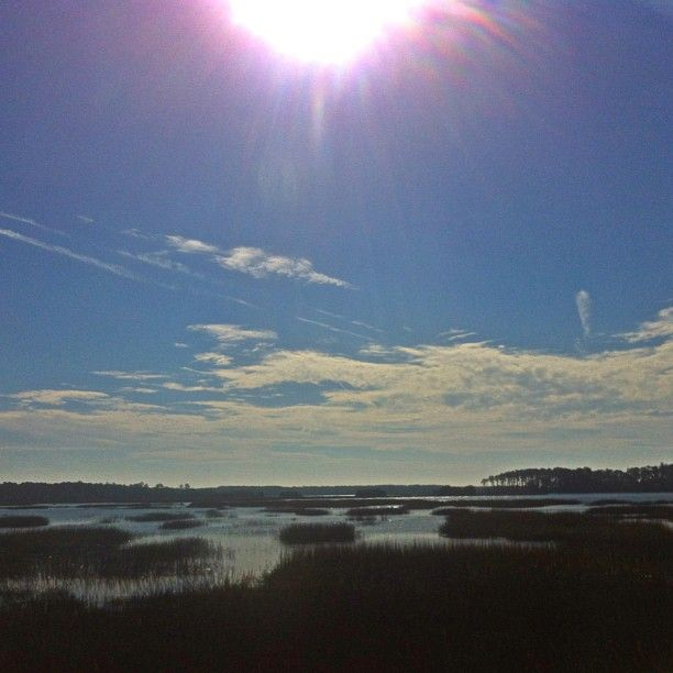 The sky…the sun… the marsh. Beautiful January day in Savannah, GA