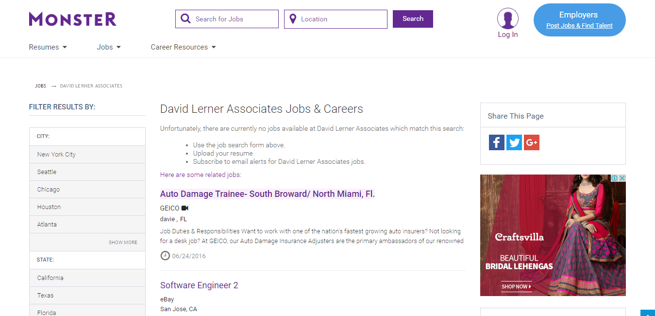 David Lerner Associates Job Openings Apply For Jobs At David Lerner Associates Monster Job Opening Find A Job Job Career