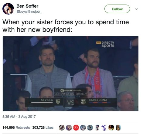 Here Are All The Funniest Tweets About Game Of Thrones Season 7 Got Memes New Boyfriend Funny Meme Pictures