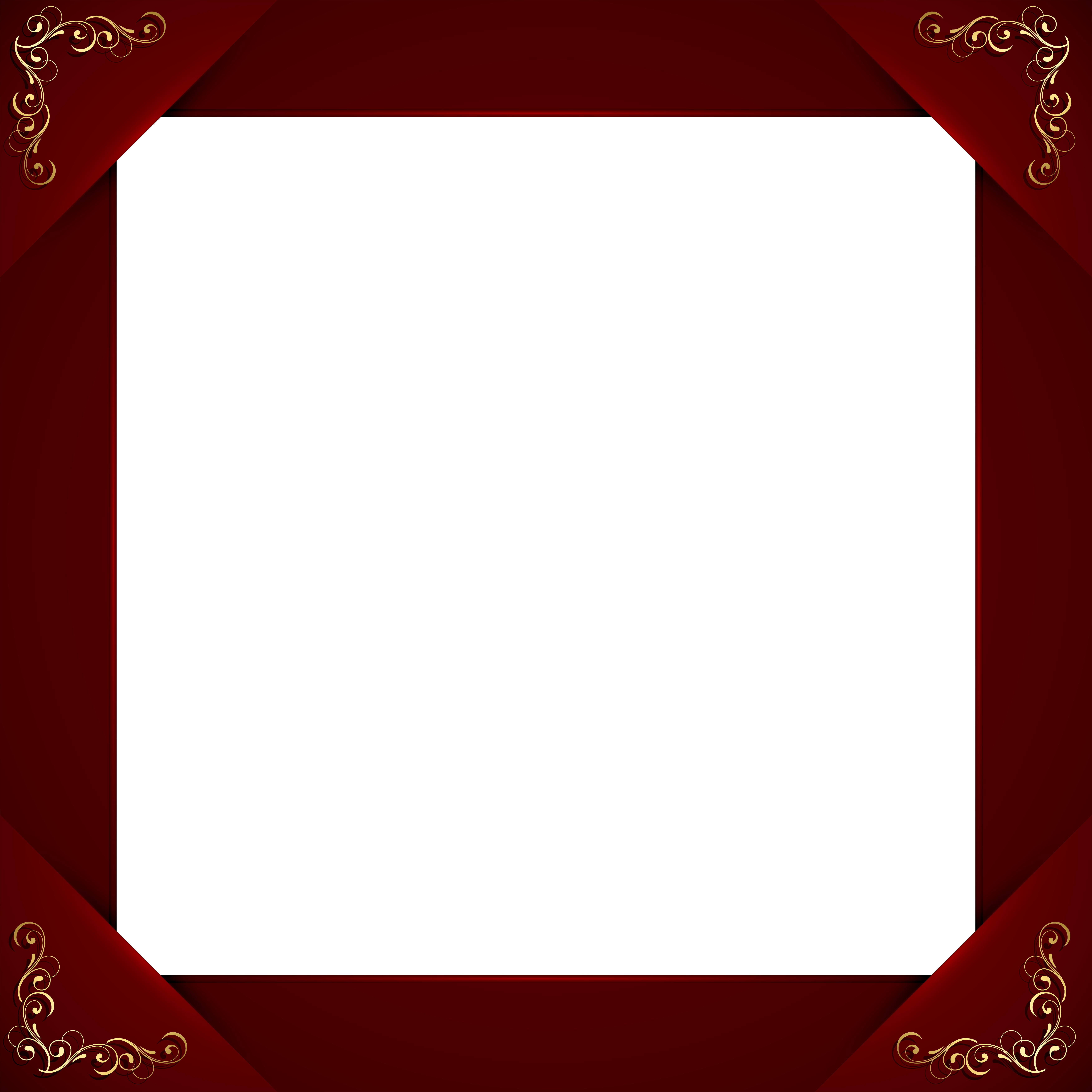 Transparent Elegant Red Frame Gallery Yopriceville High Quality Images And Transparent Png Free Clipart Red Frame Elegant Frame Gallery Frame