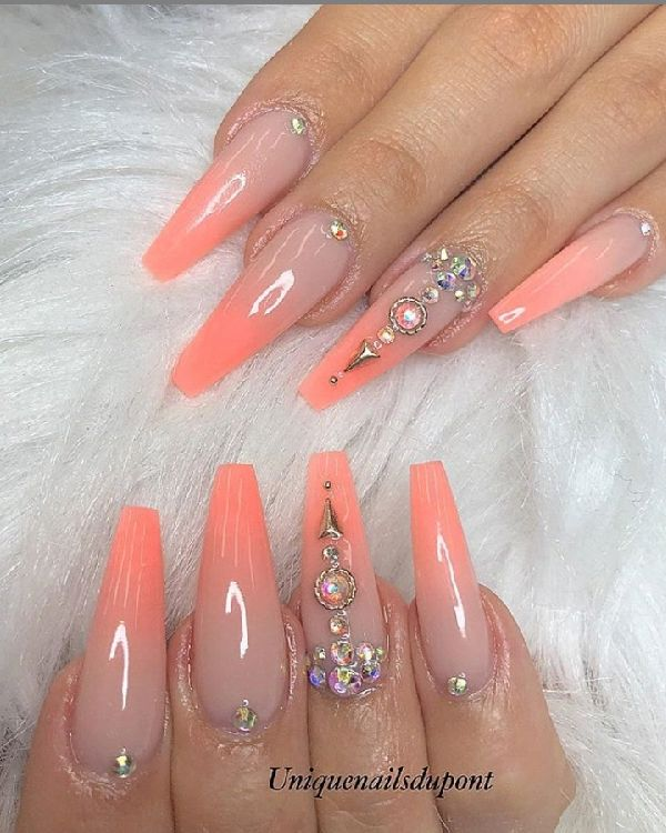 51 Fabulous Ways To Wear Glitter Nails Designs For 2020 Summer Nails Summer In 2020 Coffin Nails Long Summer Nails Colors Gorgeous Nails
