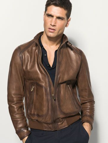 7d0216d98 Leather jackets - MEN - Massimo Dutti | my massimo dutti in 2019 ...