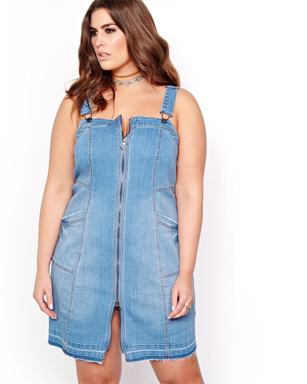 Keep it Cute in These 12 Plus Size Denim Dresses