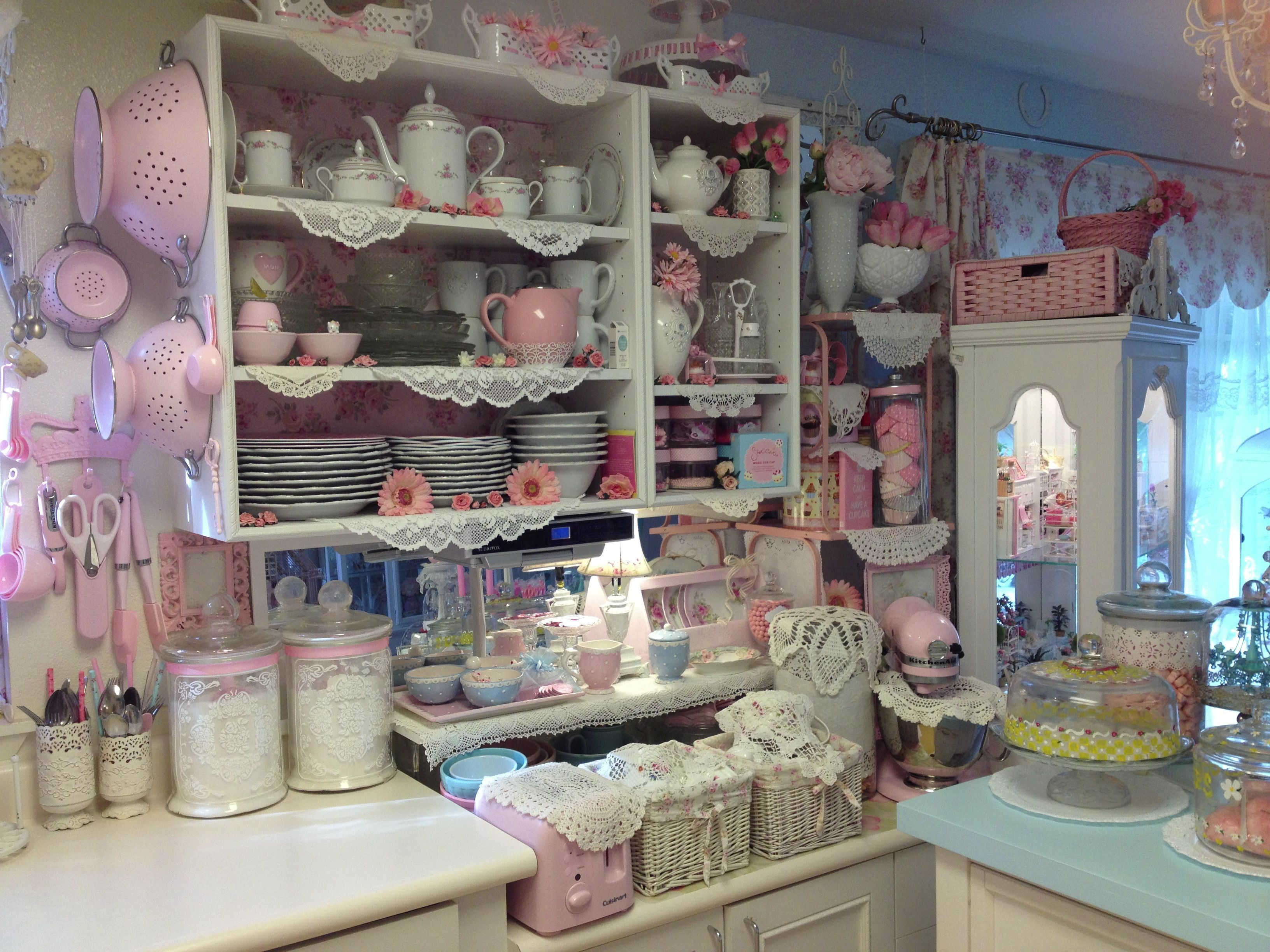 My Pink Shabby Chic Kitchen
