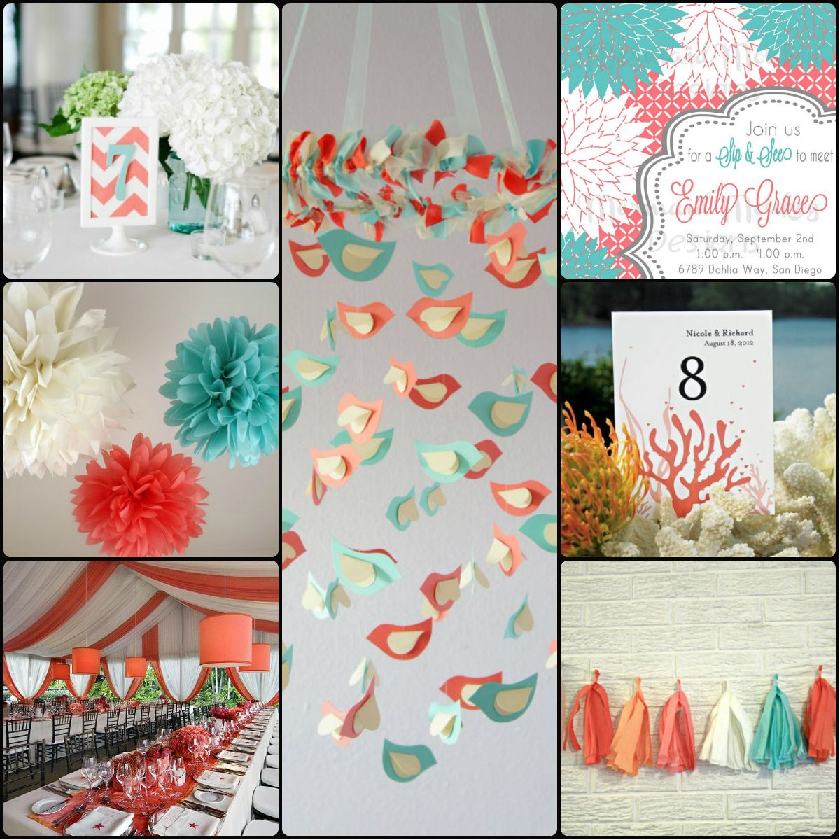 Turquoise and coral wedding coral and turquoise wedding outdoor turquoise and coral wedding coral and turquoise wedding outdoor decor wedding decorations ideas junglespirit Images