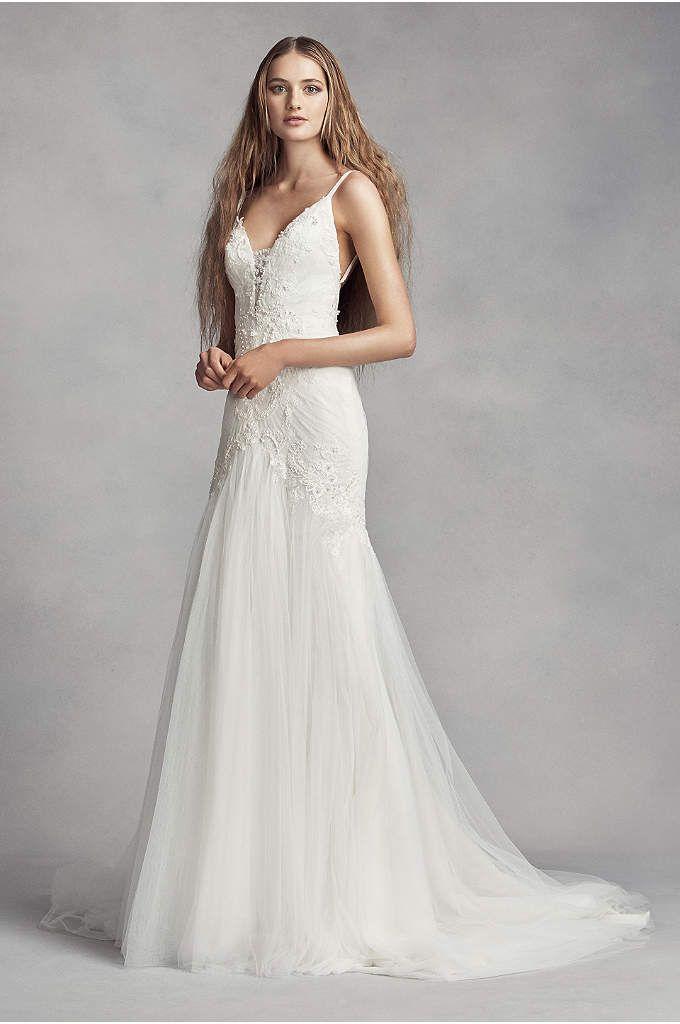 e3050463a0b7b White by Vera Wang Short Sleeve Lace Wedding Dress - Davids Bridal ...