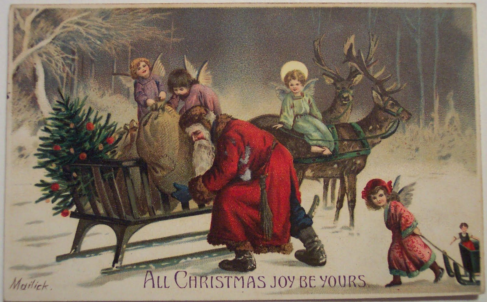 Vintage Christmas Desktop Wallpapers Vintage Christmas Christmas Postcard Christmas Desktop