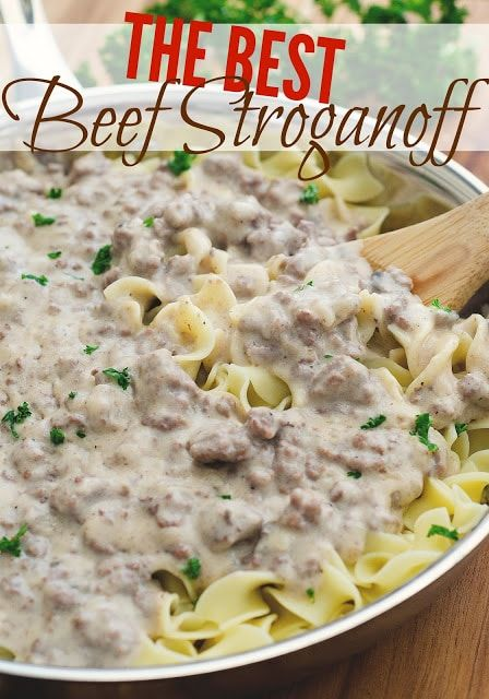 Homemade Beef Stroganoff images