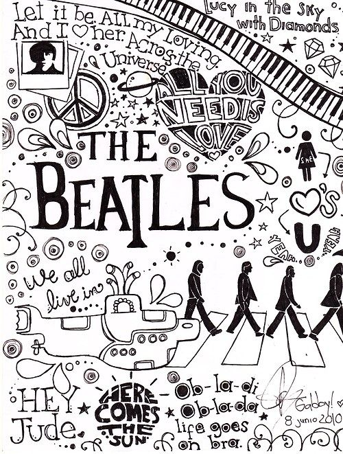A Graphic Design For A Beatles Poster The Beatles Beatles Art