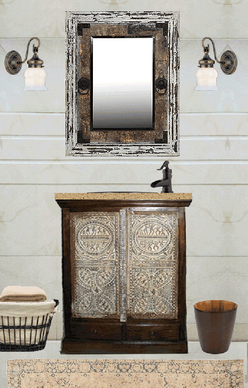 Here's my vision for the Chennai apartment's vanity