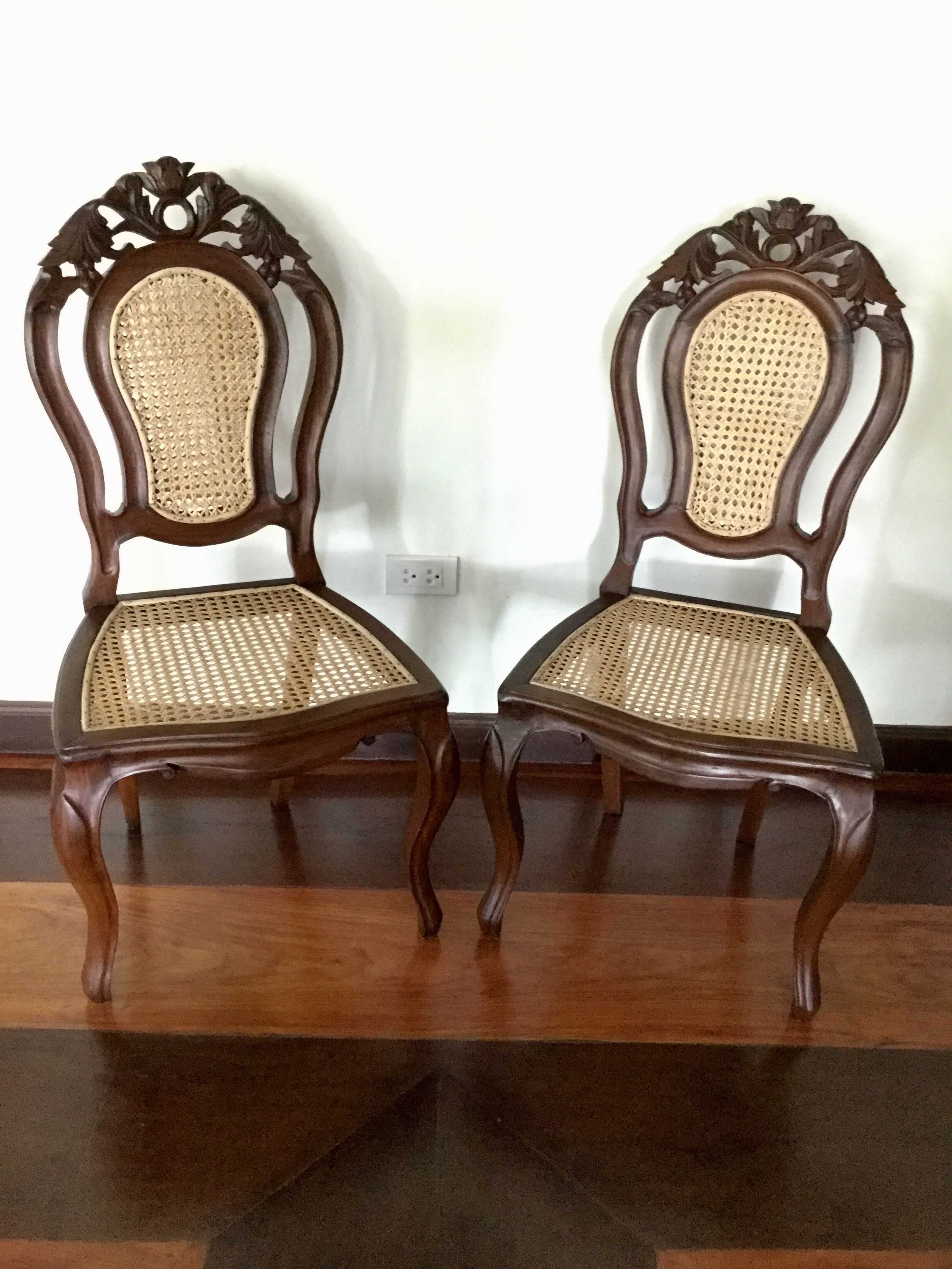 Antique Narra Sala Set Mariposa Dining Chairs 2 Of 5 From The Gutierrez Family
