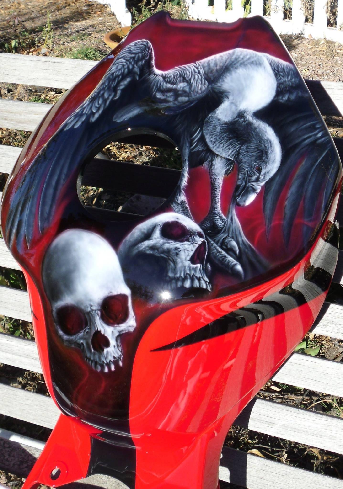 Ryan Litjen .skull Master. Airbrush Art