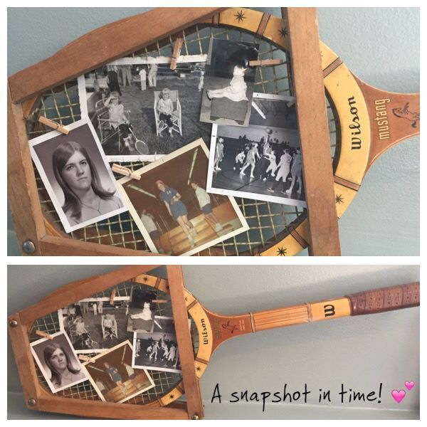 Photo of What do you get when you have your mom's old tennis racquet & snapshots from her…,  #moms #ra…