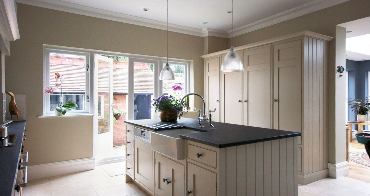 This project includes oak u hand painted kitchen architectural and