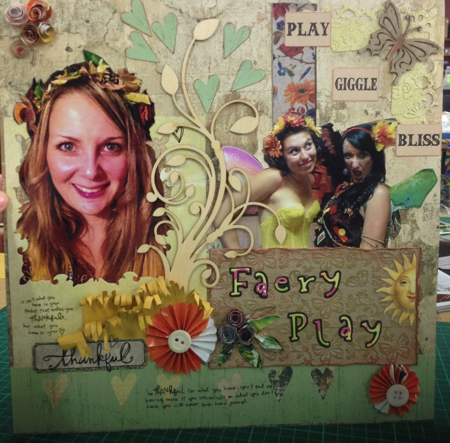 'Faery play' scrapbook layout
