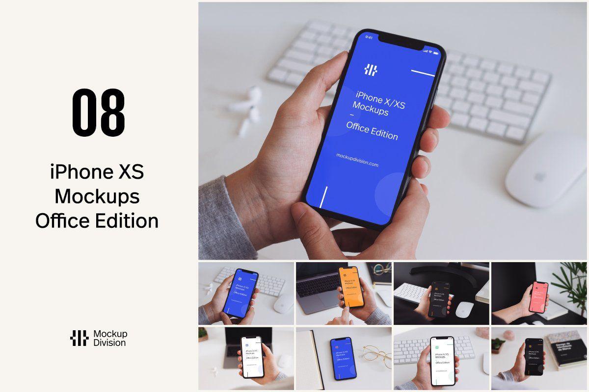 Iphone X Xs Mockups Office Edition Iphone Mockup Free Iphone Presentation Design