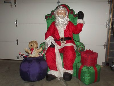CHRISTMAS INFLATABLEANIMATED REALISTIC SANTACC1 - halloween inflatable decorations