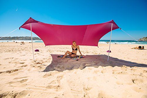 Ziggyshade Beach Tent Sun Shade With Sandbag Anchors Upf50 Red Family For More Information Visit Image Link