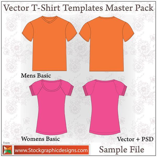 Download Vector T Shirt Templates Shirt Template Vector Clothes Blank T Shirts