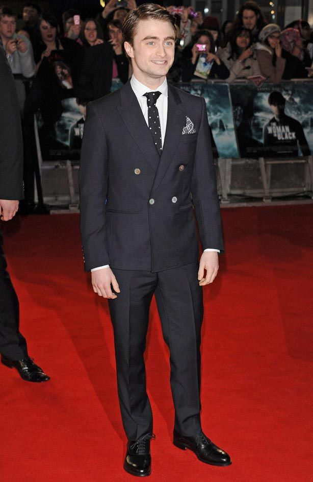 Yes, shorter men CAN wear double-breasted suits. Daniel Radcliffe ...