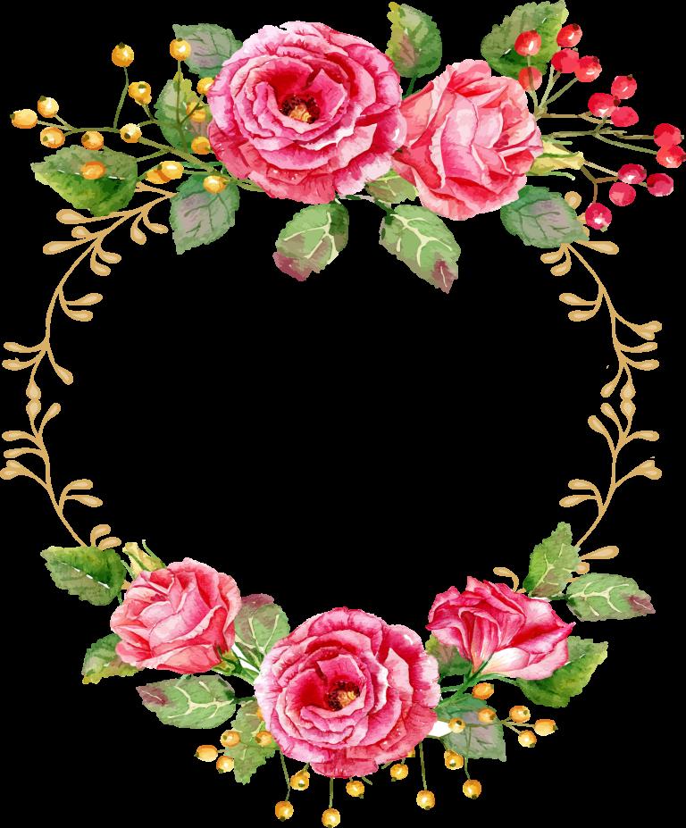ثيمات قرقيعان جاهزة للطباعة2019 اطارت فوتوشوب للتصميم ثيمات قرقيعان فارغة Floral Wreaths Illustration Flower Frame Floral Painting