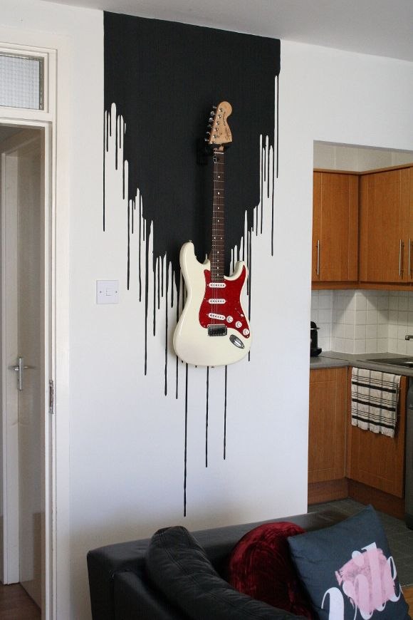 The Interior Diyer Diy Drip Feature Wall Rock N Roll