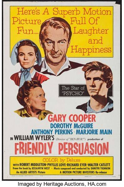 Movie Postersdrama Friendly Persuasion Allied Artists