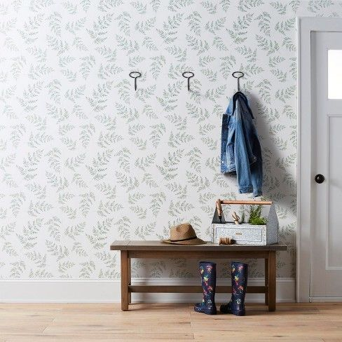 Wallpaper Fern Print Hearth & Hand with Magnolia