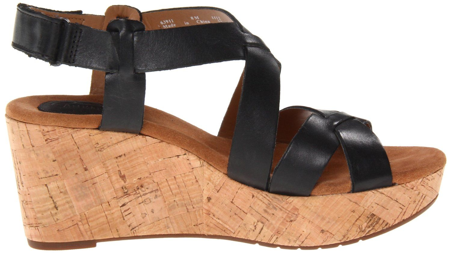 5fc364eeb391 Amazon.com  Clarks Women s Casylynn Cheryl Wedge Sandal  Shoes ...