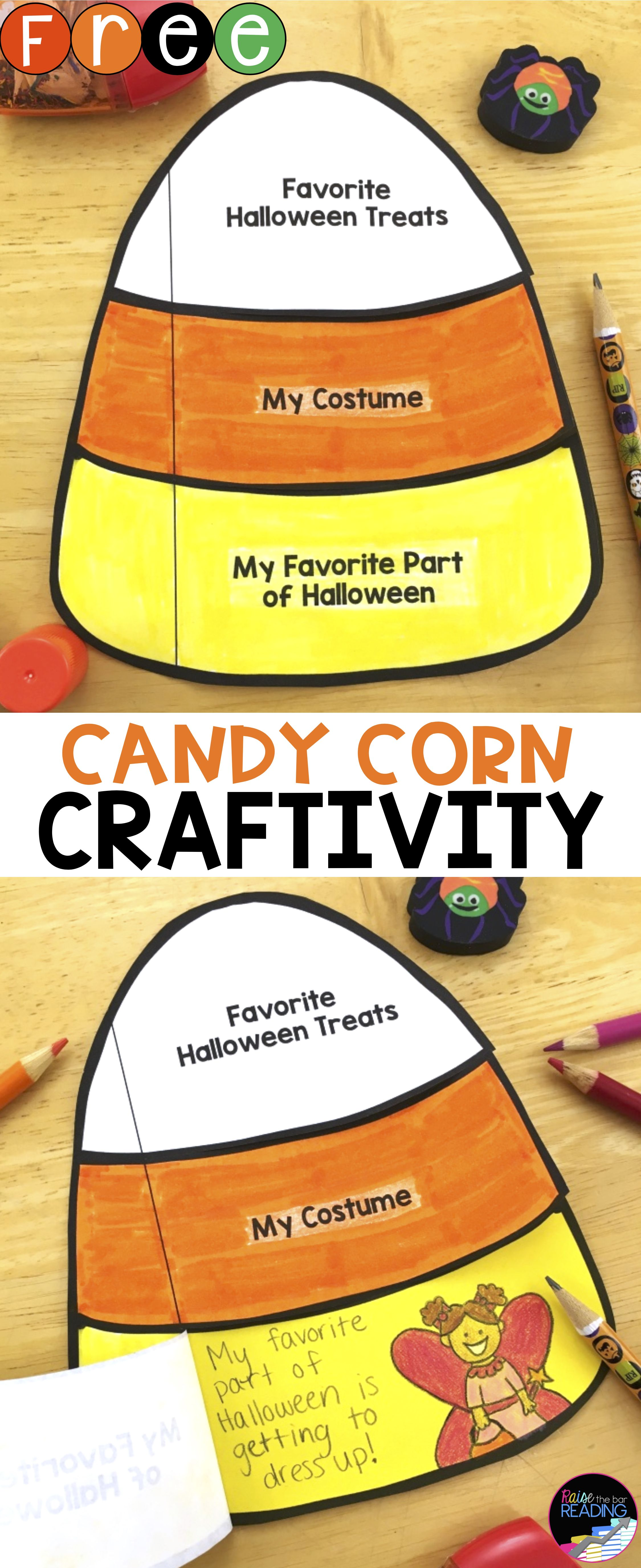 Free Halloween Craft Interactive Candy Corn Craftivity