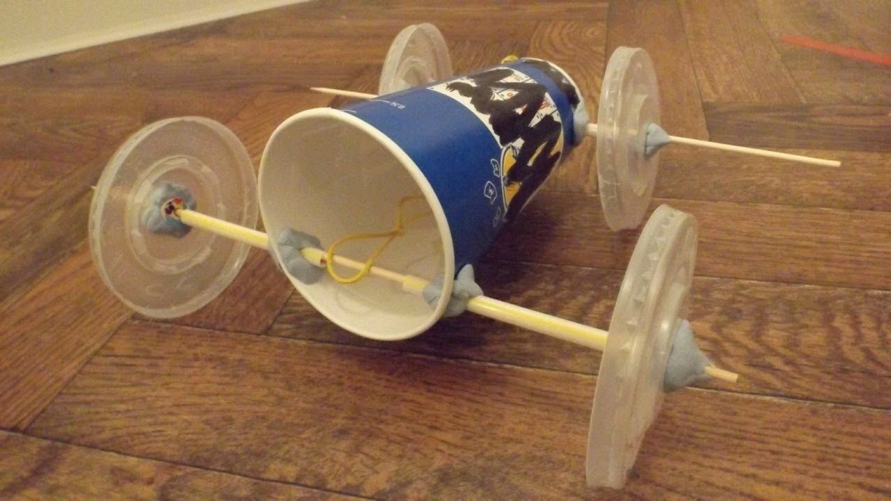 This Looks Pretty Awesome A Rubber Band Powered Car Made