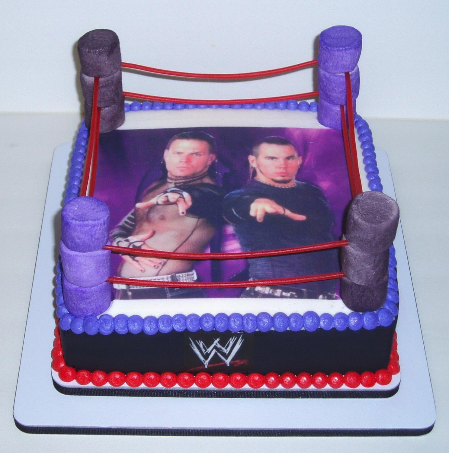 Made this for my nephew who is a huge fan of WWE and the Hardy