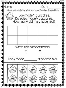 addition word problems for kindergarten tpt math lessons addition words preschool math. Black Bedroom Furniture Sets. Home Design Ideas