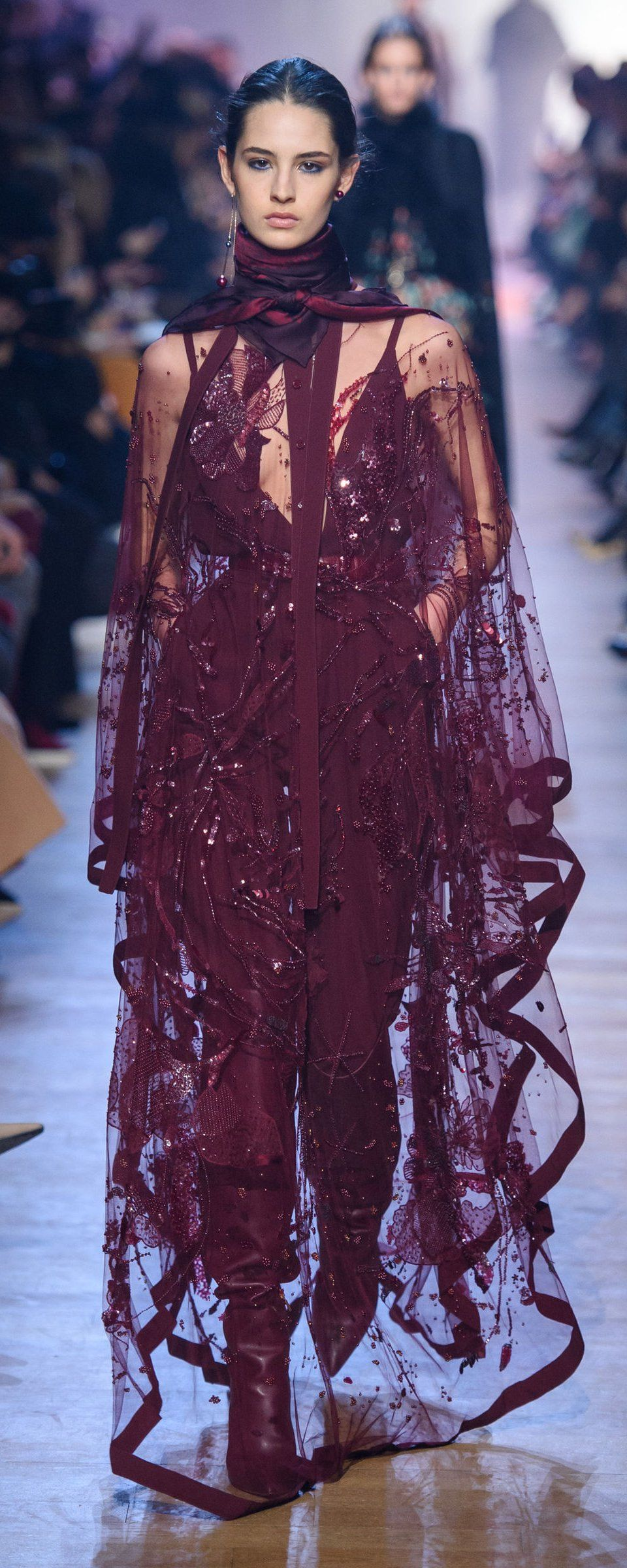 Elie Saab Fall-winter 2018-2019 - Ready-to-Wear | Vestiditos, Alta ...