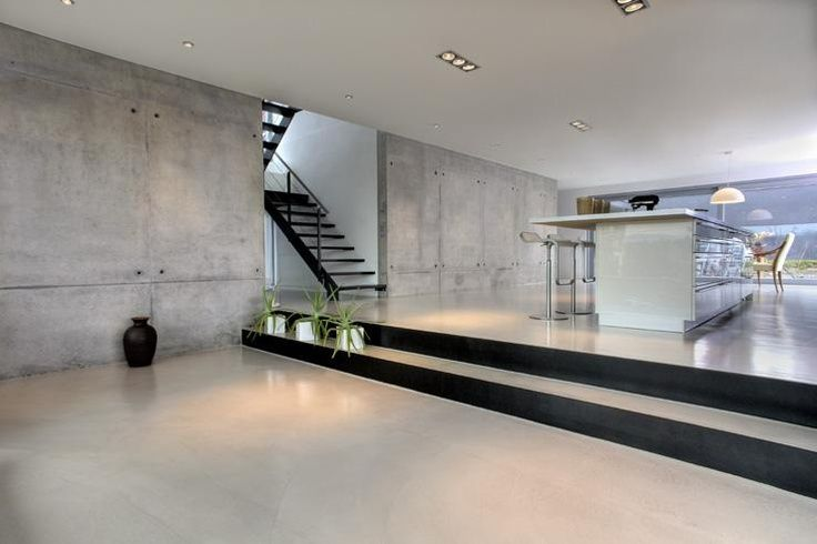 Concrete floor and wall modern concrete trends in for Indoor cement flooring