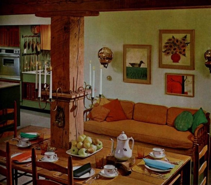Pin by Sue Rutherford on Mid Century Kitchen/Family Rooms ...