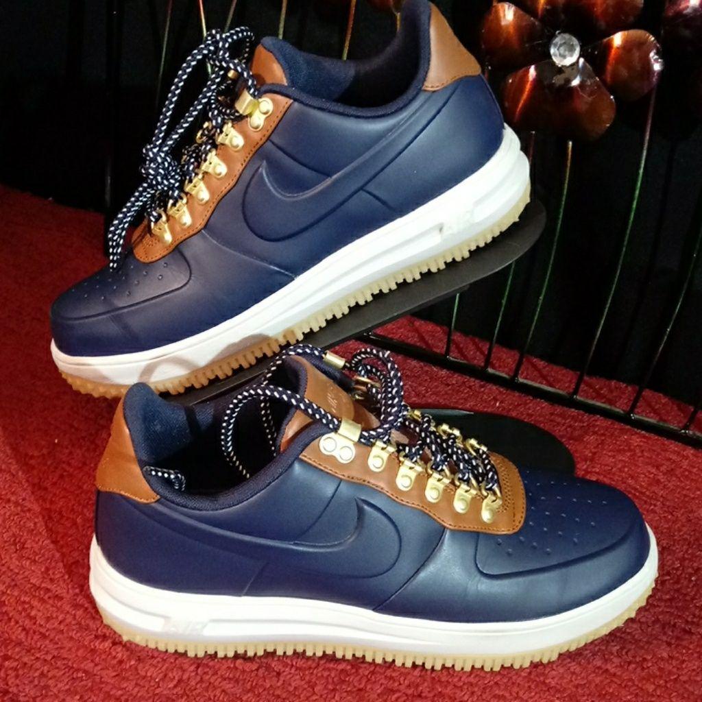 Nike Shoes | Nike Lunar Force 1 Duckboot Low Obsidian Saddle