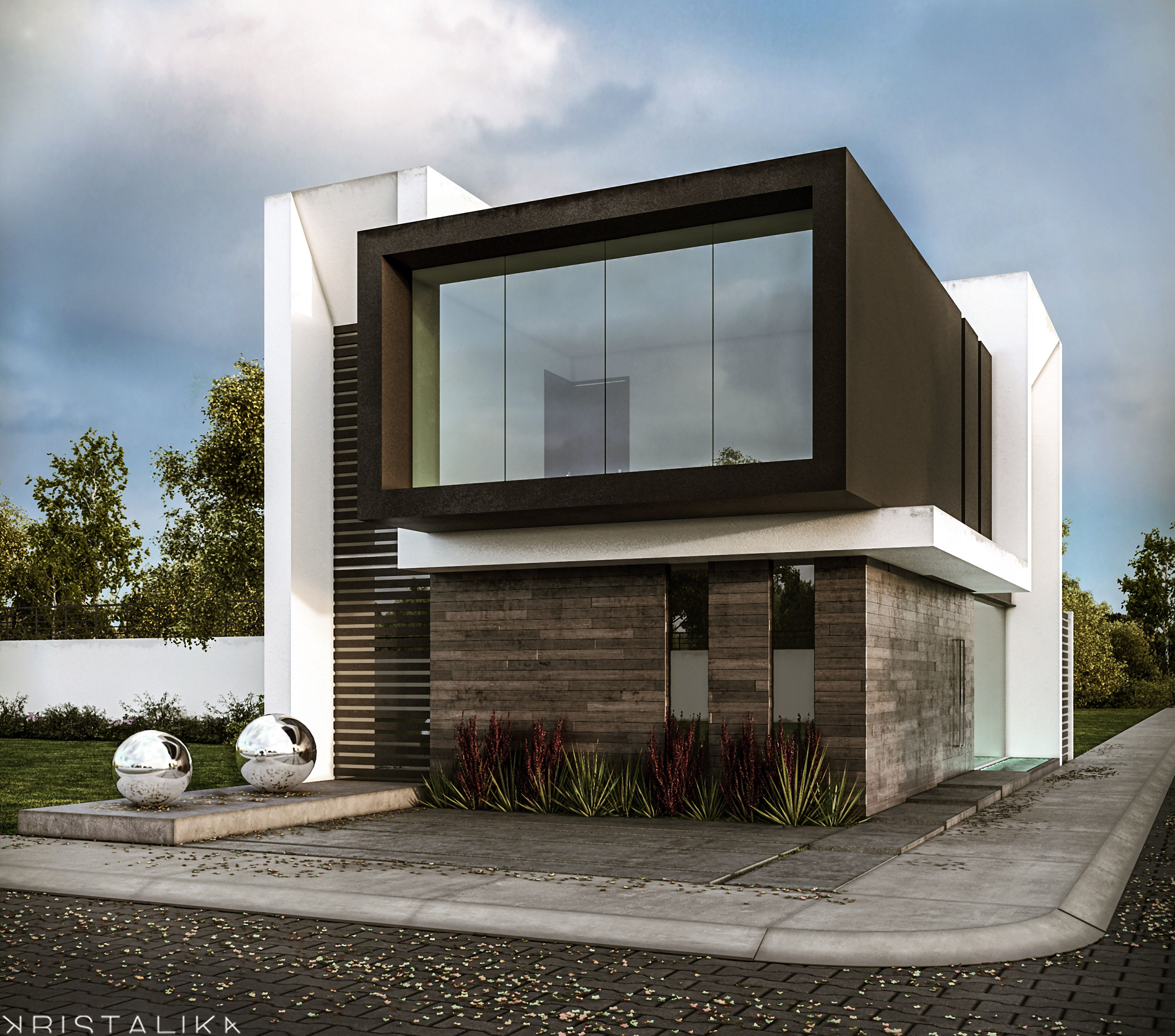 Sensacional cuadrada y minimalista pinterest fachadas for Viviendas minimalistas