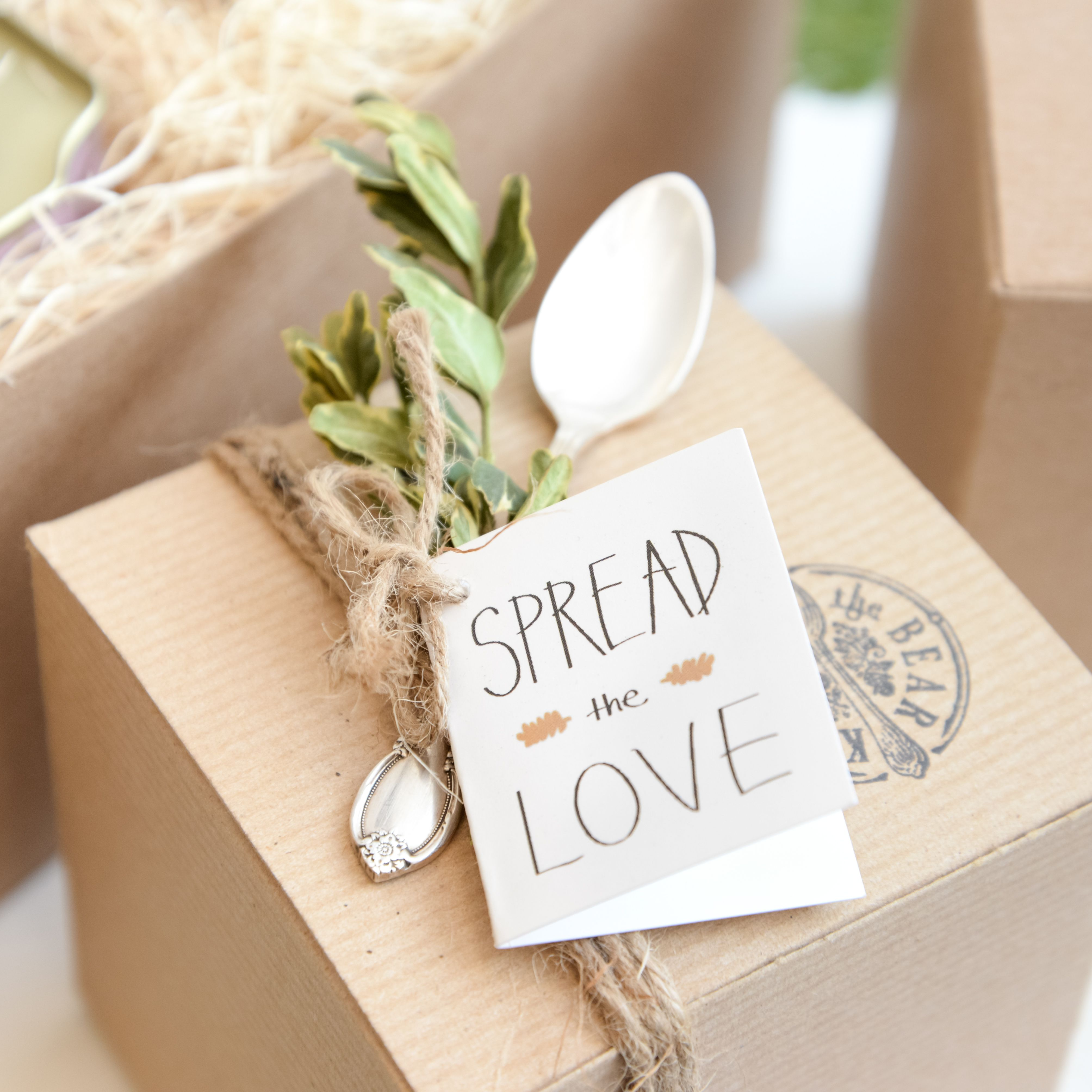 Spread the Love! Jam and Vintage Silver Spoon Gift Box / Kitten and ...