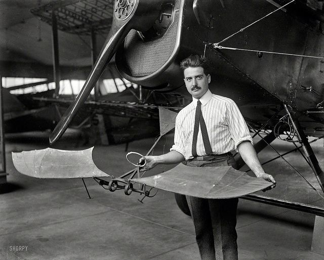 Man with model aeroplane 1923 | Flickr - Photo Sharing!