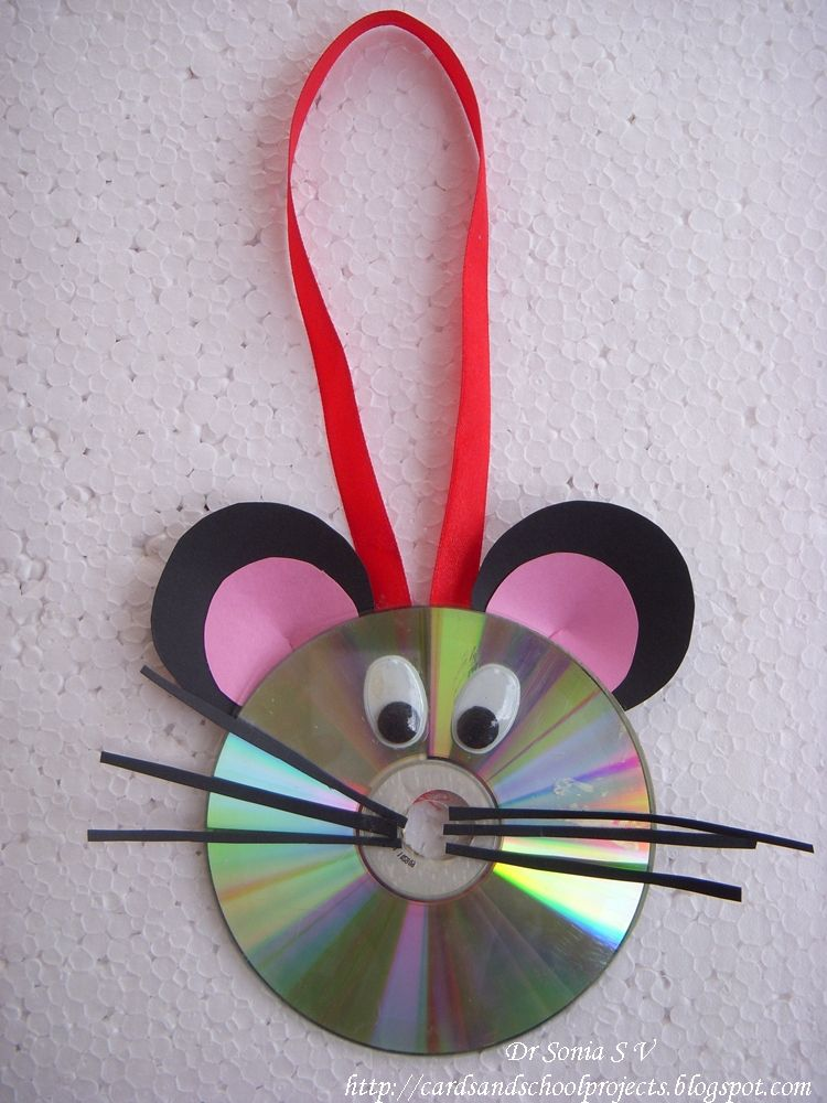 Wonderful Craft Ideas For Kids From Waste Material Part - 11: Cards ,Crafts And Kids Projects: Recycled CD Craft